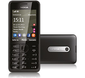 Nokia 301 + Special Complete Mobil Music mit Handy