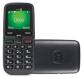 Image of Doro 5030 (Graphite) + MagentaMobil L Friends mit Top-Handy + Sprachnachrichten direkt auf dem Smartphone in beliebiger Reihenfolge abrufen.